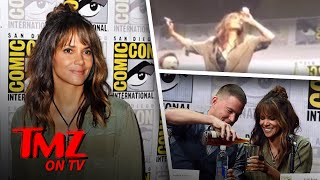 Halle Berry Chugs Whisky At Comic Con | TMZ TV