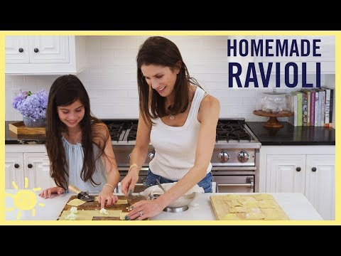 KIDS MAKE | Homemade RAVIOLI with Easy, No-Cook Sauce
