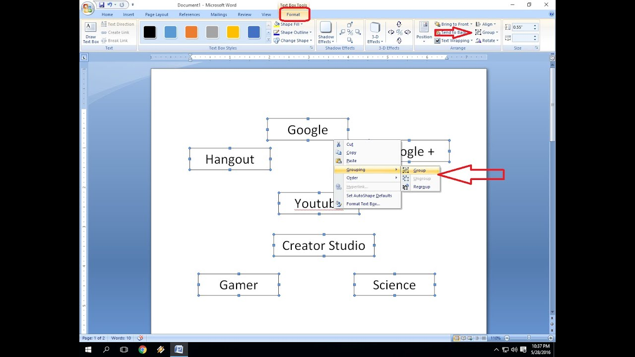 how to make a diagram in word 1997 nissan maxima wiring group and ungroup pictures chart ms