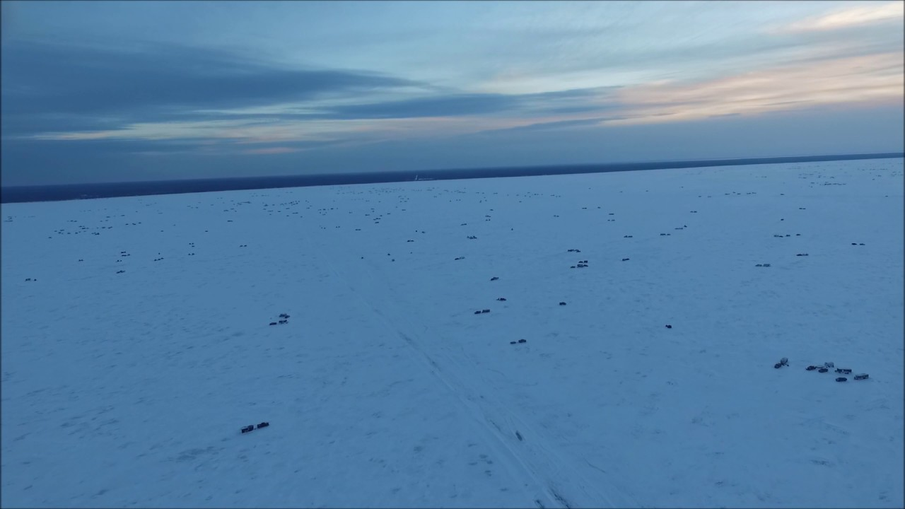 Red lake mn ice fishing drone flyover youtube for Upper red lake fishing report