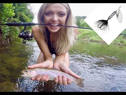 MICRO RAINBOW TROUT FISHING HOW TO With ROOSTER TAIL SPINNERS