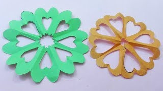 How to make paper cutting flower designs/ DIY  paper flower Tutorial by step by step