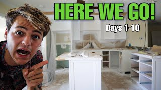My New House Renovation Series!! (Day 1-10)