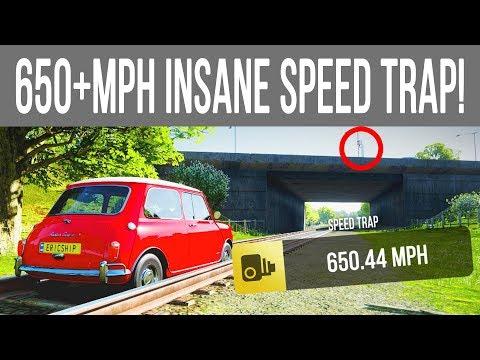 650+MPH INSANE SPEED TRAP/GLITCH IN A MINI COOPER! Forza Horizon 4