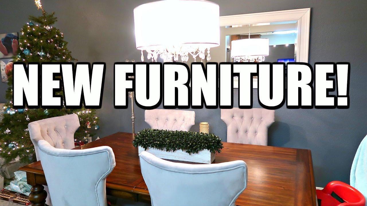 NEW DINING ROOM FURNITURE! - NEW DINING ROOM FURNITURE! - YouTube
