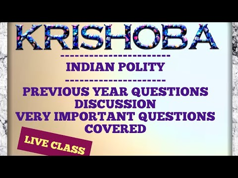 Indian POLITY LIVE DISCUSSION