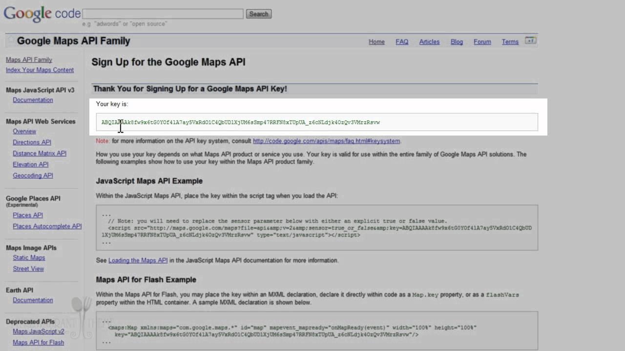 How to get the Google Maps API key