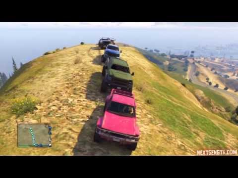 GTA V Online ps3 | NGG Event | 10/10/13 | Big Group Offroading - BJ's PoV