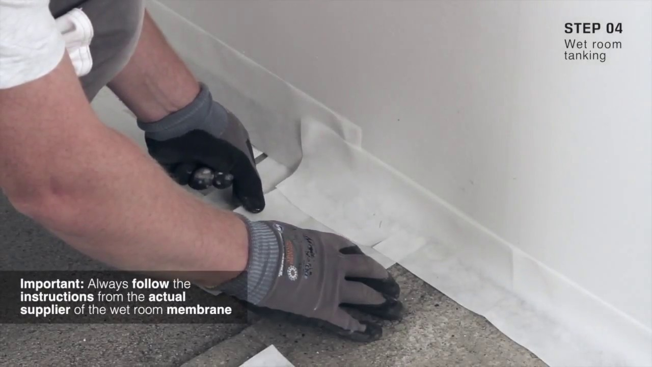 How to install unidrain wet room installation against two for How to fit a wet room floor