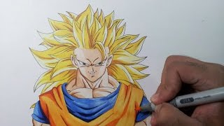 Drawing Goku SSJ3 - Super Saiyan 3