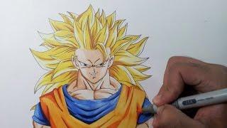 Drawing Goku Super Sayain 3