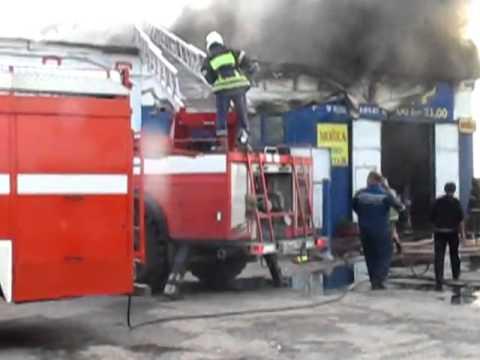 Пожар автосервиса на обьездной дороги г. Подольск