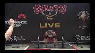 Eddie Hall Axle Press World Record! 216kg/476lbs At Europe's Strongest Man 2017