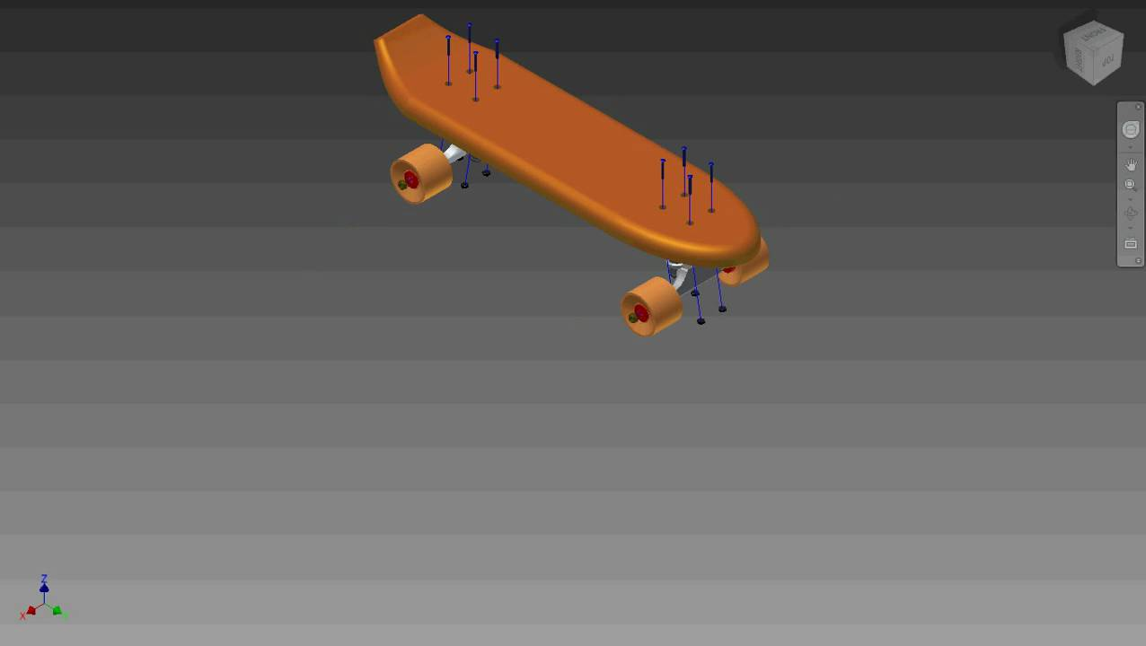 Autodesk inventor 1970 39 s skateboard youtube - Invention du skateboard ...