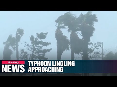 Typhoon Lingling to hit South Korea starting Friday