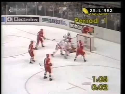 Soviet Union Canada 25 April 1982 Ice Hockey World Chammpionship