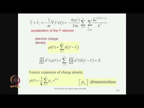 Mod-03 Lec-21 Density fluctuations in an electron gas