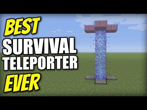 Minecraft Bedrock - TELEPORTER ( NO MODS ) [ Tutorial ] PS4 / MCPE / Xbox / Windows / Switch