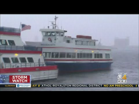 MBTA Commuter Ferry Hits Wave In Boston Harbor, Passengers Knocked Down