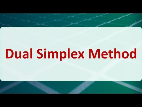 Operations Research 05E: Dual Simplex Method