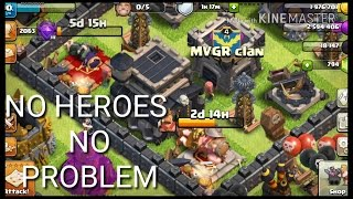 FARMING WITHOUT HEROES & CC TROOPS|Clash Of Clans|Th9 Farming.