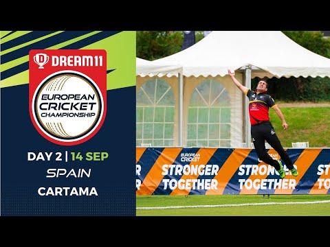 🔴 Dream11 European Cricket Championship | Day 2 Cartama Oval Spain | T10 Live Cricket