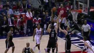 Al Horford Rattles the Rim Over Three Nets Defenders