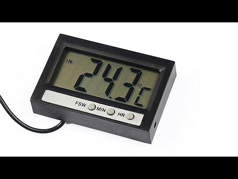 DT C100 indoor outdoor thermometer clock
