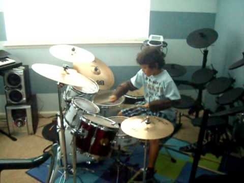 drum solo 8 year old  Brandon Moss