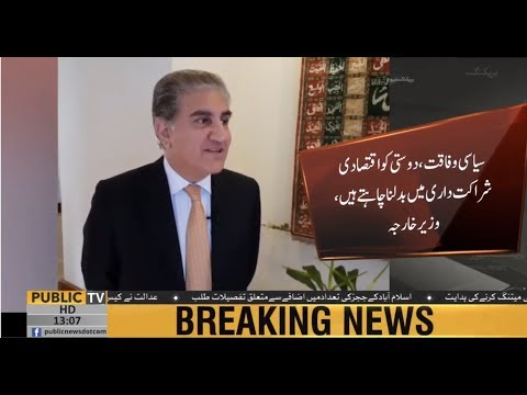 Turkey is a close aide to Pak, FM Shah Mehmood Qureshi's exclusive talk to Public News