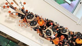 Rustic Burlap Fall / Halloween Tree Decorating - How To Decorate A Halloween Tree - Fall Decorating