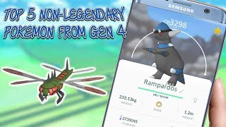 Top 5 Non Legendary Pokemon From Gen 4 In Pokemon Go