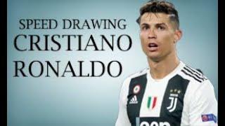 Speed Drawing Cristiano Ronaldo| CR7 JUVENTUS