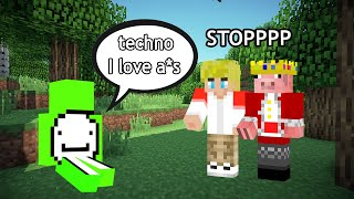 dream  DIRTY moments in front of TECHNOBLADE (on dream smp)