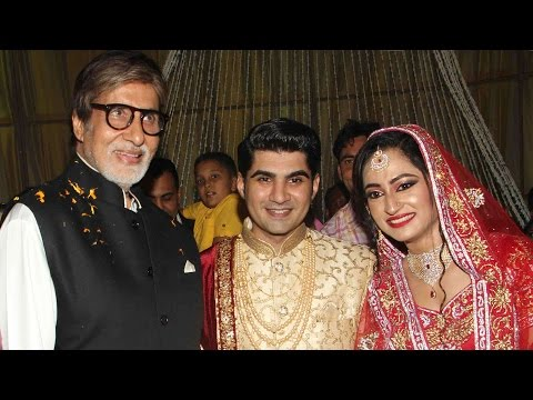 Bollywood Celebs At Ali Khan's Daughter's Wedding Reception | Amitabh Bachchan, Jhonny Lever
