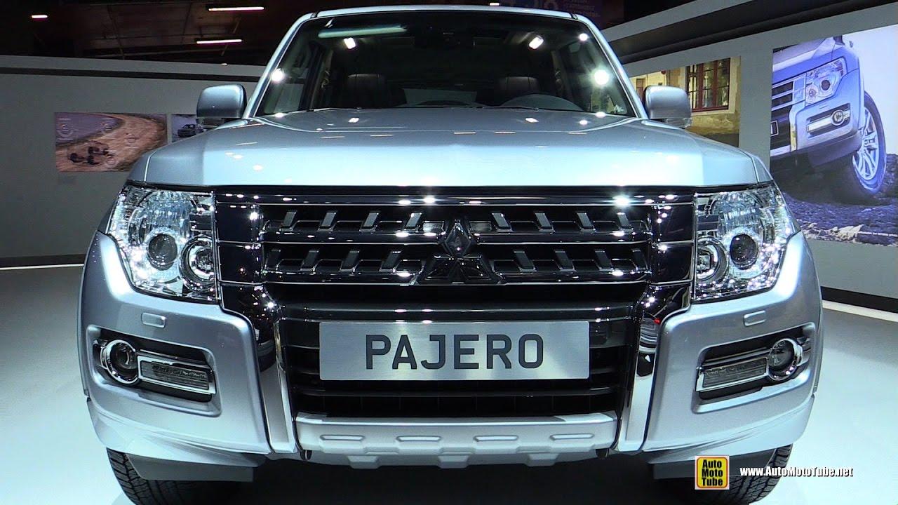 2017 mitsubishi pajero long instyle 3 2 diesel exterior interior walkaround 2016 paris motor. Black Bedroom Furniture Sets. Home Design Ideas