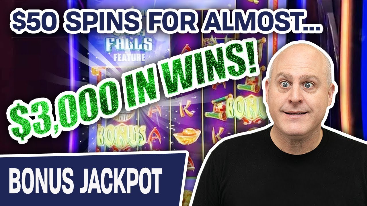 💱 ALMOST $3,000 FROM FOUR CASH FALLS WINS 💧 Incredible $50 Slot Spins