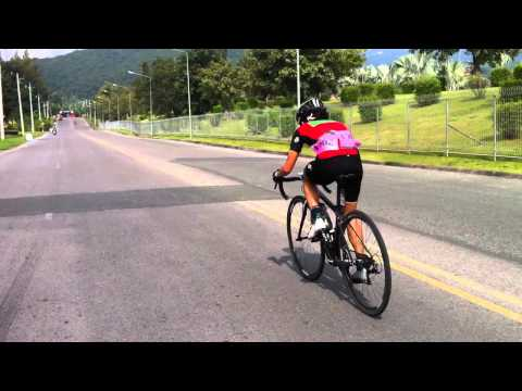 1km to go with Rapha girl Serene Lee of the Masters Tour of Chiangmai Stage 4