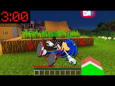 Minecraft PE: WHAT HAPPENED TO SONIC At 3:00AM