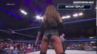 Velvet Sky vs  Brooke Tessmacher 09-10-13 - Intros - Brooke Twerking - Busty Cleavage short shorts