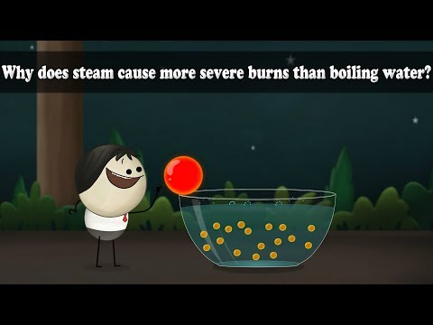 Why does steam cause more severe burns than boiling water? | Smart Learning for All