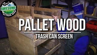 Make A Pallet Wood Trash Can Screen Cheap & Easy  |ta Outdoors
