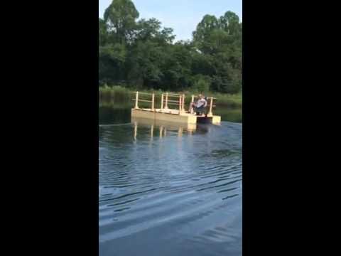 Home made Pontoon Boat Test Float