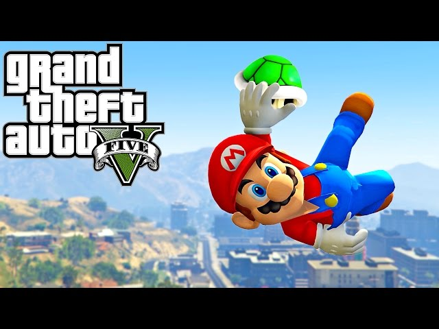 GTA 5 - SUPER MARIO ODYSSEY (Best Parkour Fails, Highest Jumps, Prison Break, GTA V PC MODS)