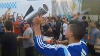 """Los jugadores de la Argentina cantando """"Brasil decime que se siente"""""""