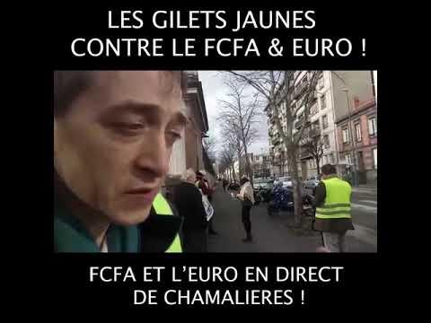 Gilets Jaunes Contre le FCFA et l'Euro à Chamalières