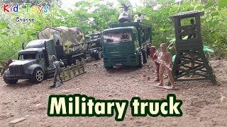 Toy army Military truck and tank set