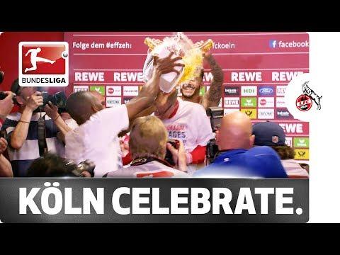 Köln crash Europe - Modeste & Co. gatecrash post-match press conference