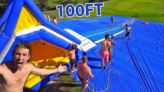 WORLDS LARGEST SLIP N SLIDE! *100FT*
