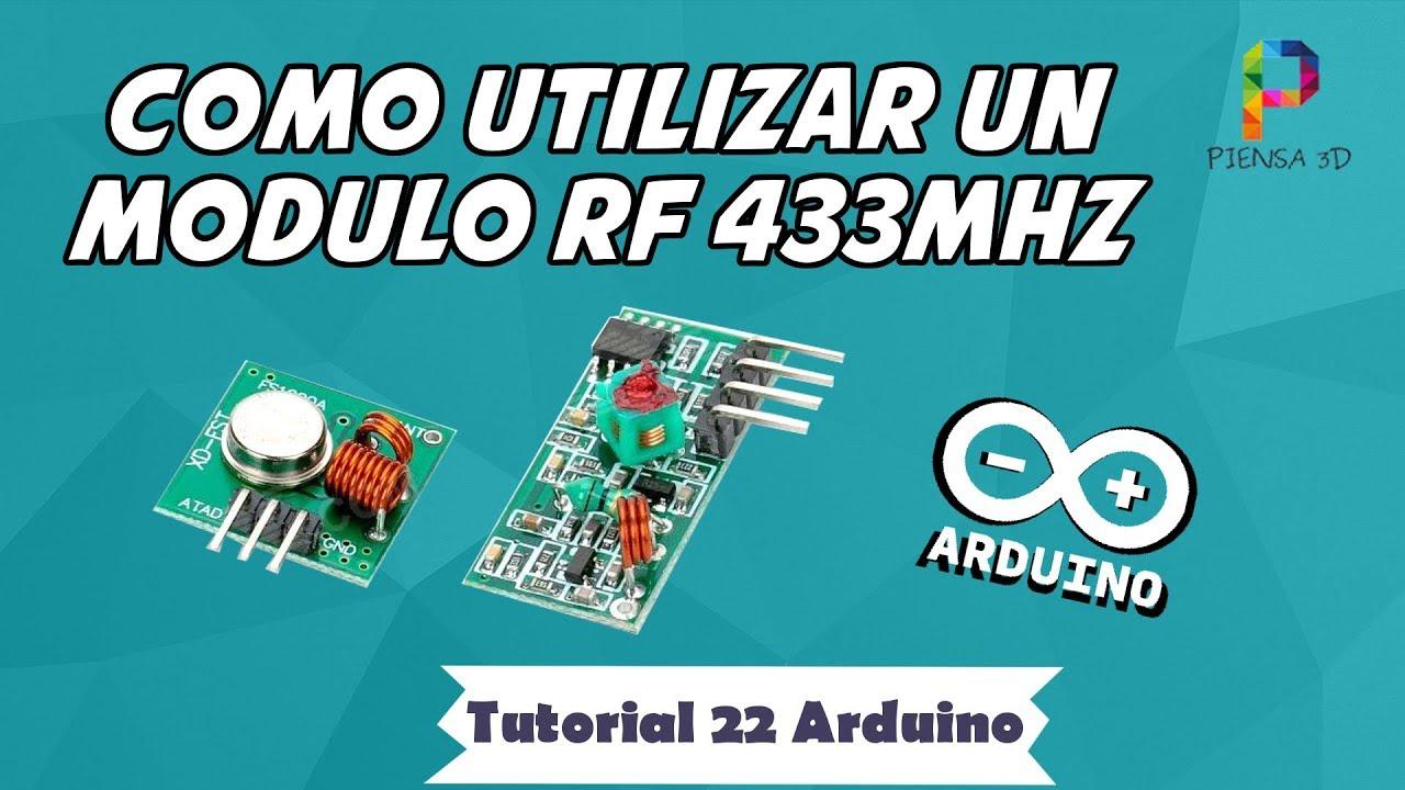 Cómo Utilizar Un Módulo De Rf 433 Mhz Arduino Tutorial 22